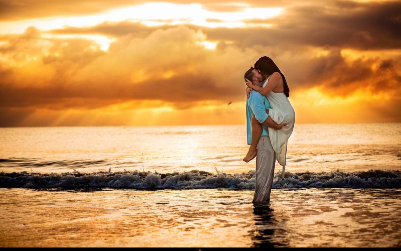 Brittany and Christopher's Sunrise Engagement Session – Jacksonville Beach Florida