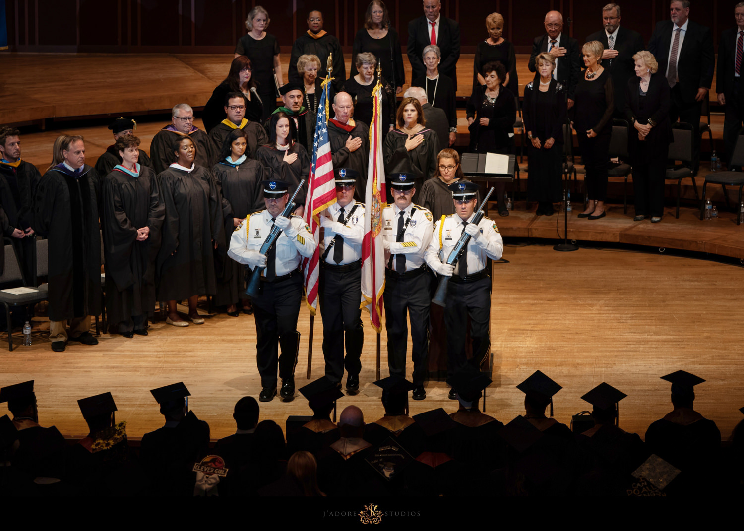 Color guard performs opening ceremony at Keiser Universities graduation ceremony