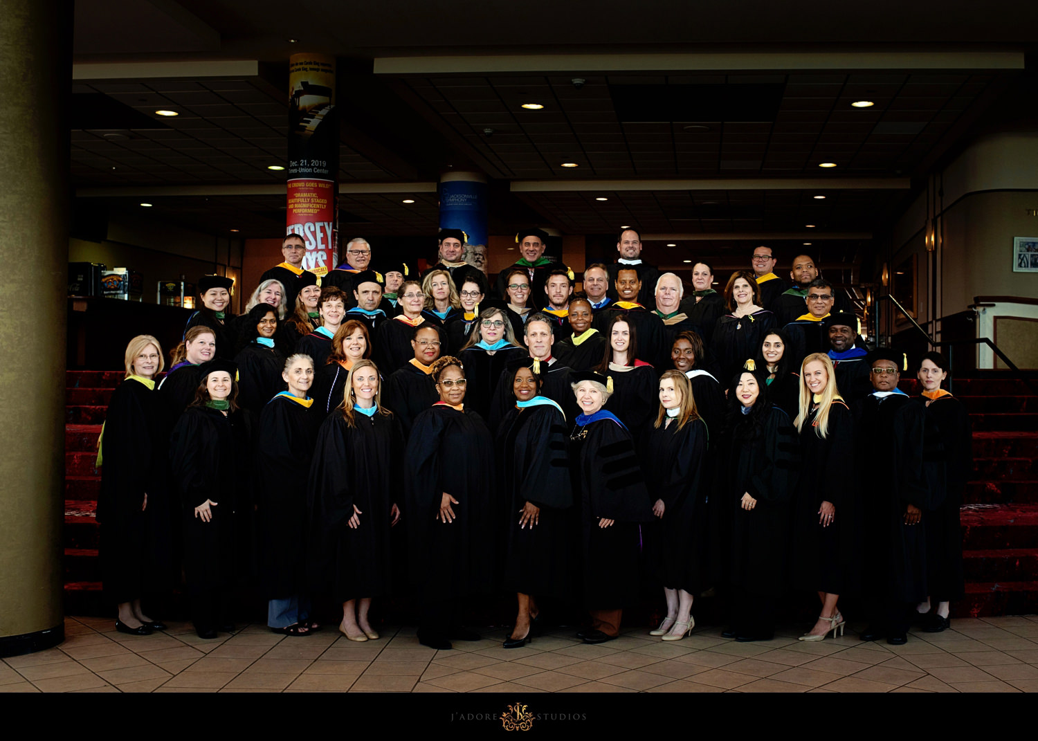 Faculty group photo - corporate photography