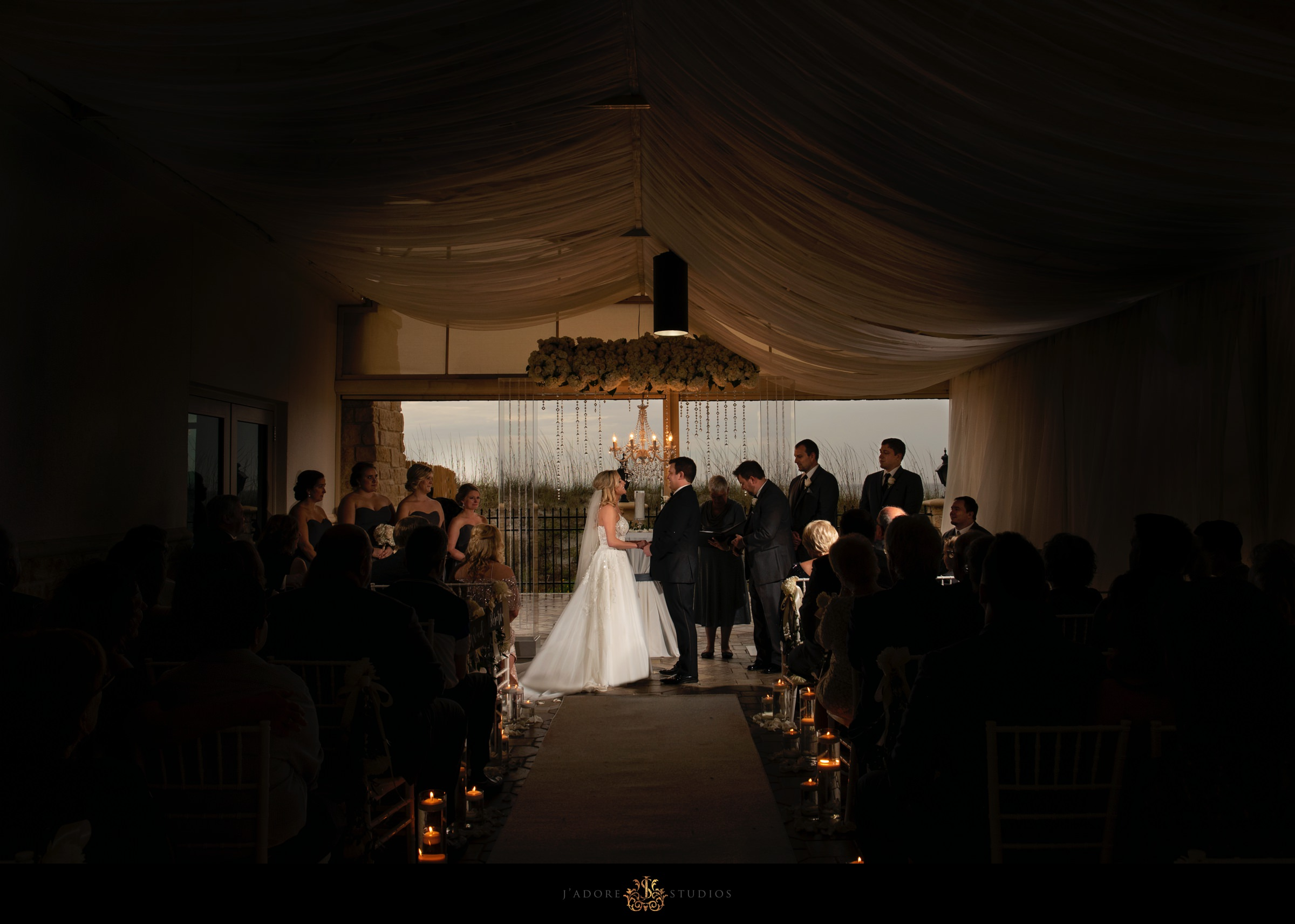 Verandina sunset ceremony at One Ocean Resort & Spa Jacksonville Wedding Venue