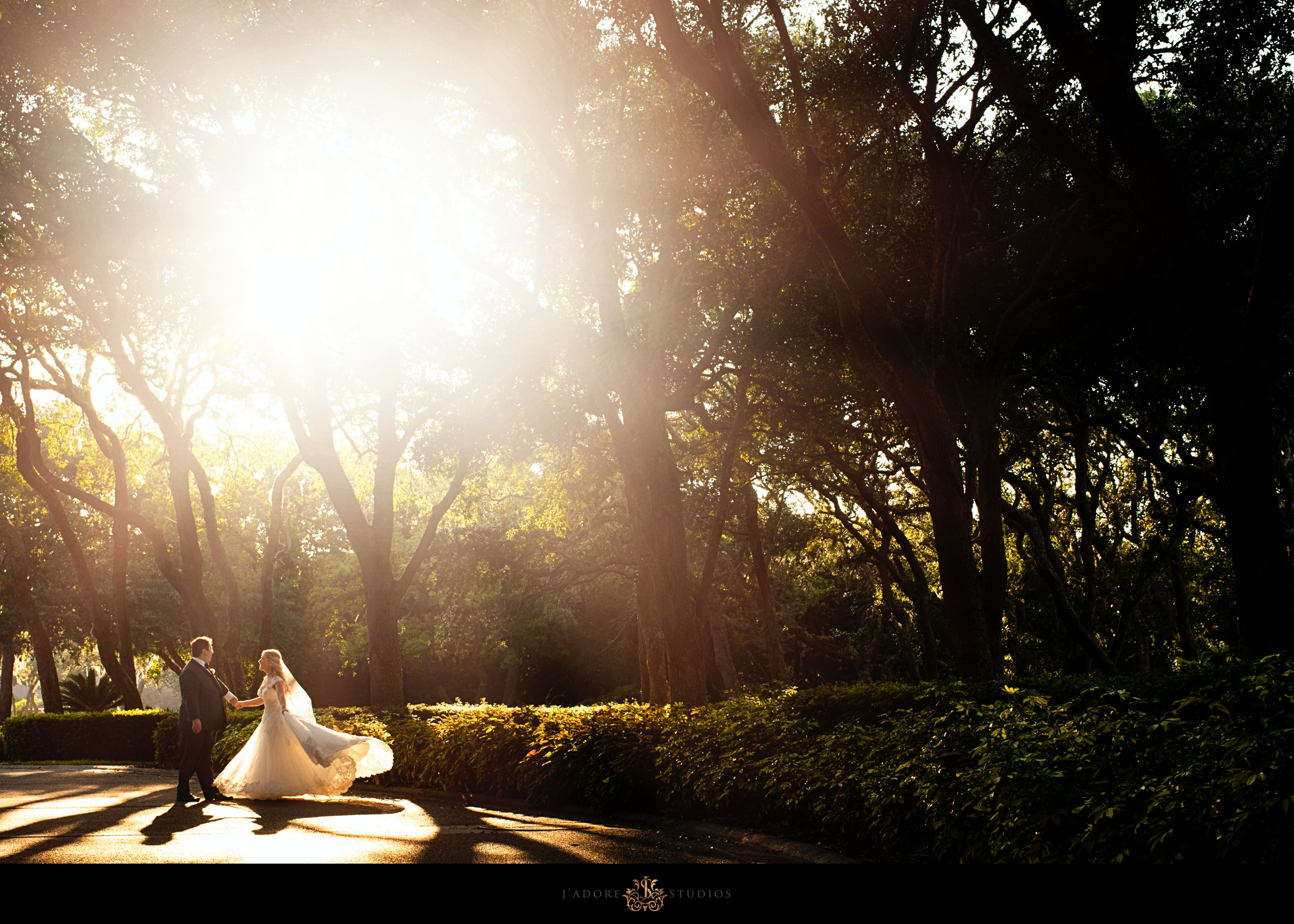 Sunset photo of couple dancing in front of the Ritz Carlton in Amelia Island