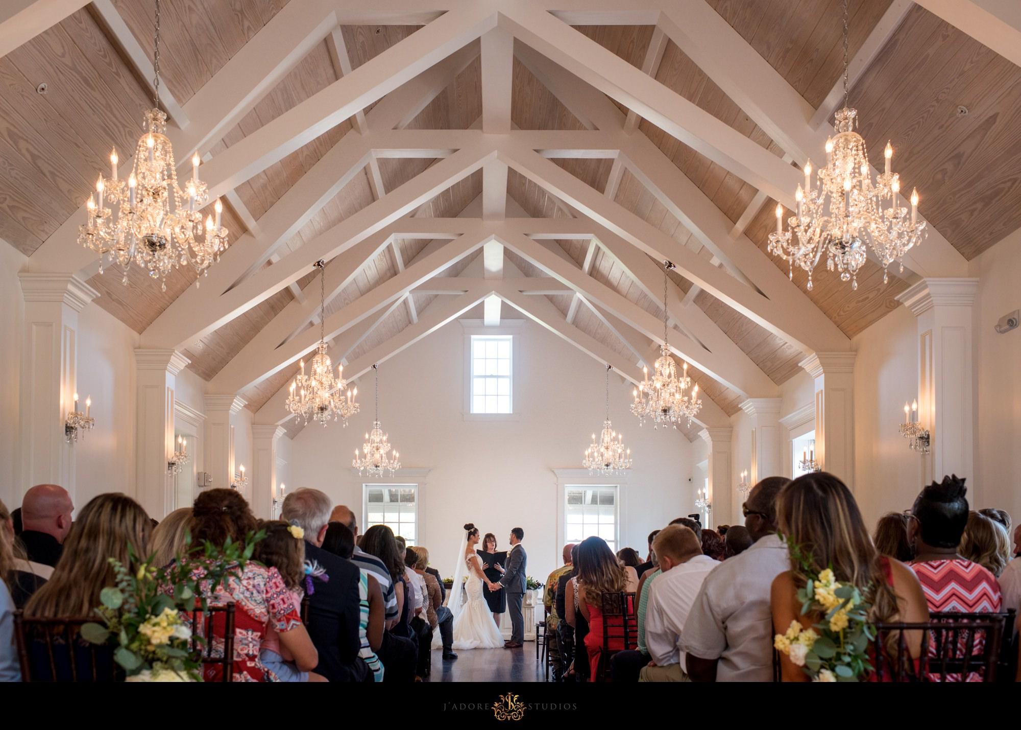 villa blanca white room Saint Augustine ceremony - bride and groom say I do